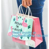 Luxury Personalized Printed Shopping Carrier Heavy Duty Reinforced Die Cut Handle Paper Gift Bag,carrier, handle bags,