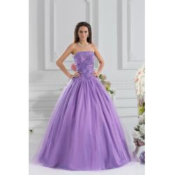 China Girls High End Strapless Satin Purple Quinceanera Party Dresses for Formal Evening Party on sale