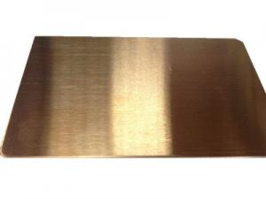 Hairline Finish Rose Gold Colored Stainless Steel Sheet
