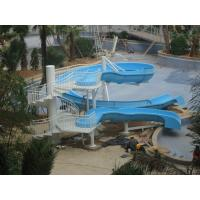Outdoor Fiberglass Swimming Pool Water Slides , Family Fun Game Water Park Slides