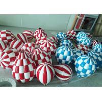 Plaid Fiberglass Balloons Custom Logo Designed Decorative Hanging Balloons