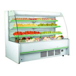 China Green/White/Yellow/Black Optional Color Multideck Open Display Refrigerator R404/R22 Refrigerant/Three Shelves Cooler on sale