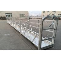 ZLP Series Hot Galvanized / Aluminum Suspended Platform Cradle For high-rise Building Wall Painting , Glass Cleaning