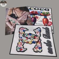 Sew On Embroidery Blank Patches , Customized 3d Embroidery Patches