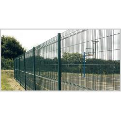China 10# / 8# Gauge Mesh Panel Fencing  /  green wire mesh fencing , PVC Coated on sale