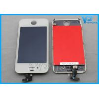 Black / White Iphone LCD Screen Glass Digitizer with Home Button