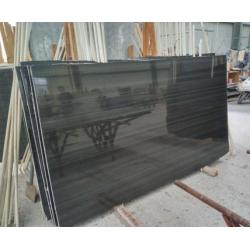 China Popular Black Marble Chinese Wood Black Marble Black Wood Marble Slab,Marble Tile On Selling on sale
