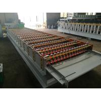 GI / PPGI Roof Panel Roll Forming Machine PLC Control Cold Roll Forming Process