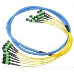 Multi mode MPO MTP Trunk Patch Cord with customized logo in Yellow