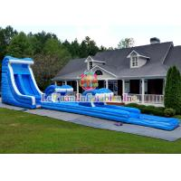 Wave Blast Large Water Slide With Climbing  Air - Filled Rock Wall