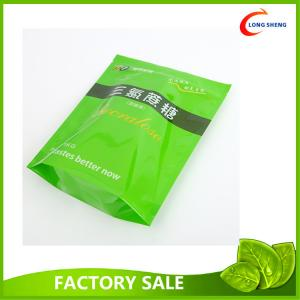 Resealable Zip Top Plastic Stand Up Bag , Spring Tea Packaging Plastic Bag