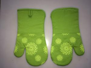 Silicone Coated Kitchen Oven Mitts , Customized Microwave Oven Gloves