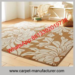 China Machine made loop tile plain wool blended carpet rugs with PP backing on sale