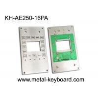 Customizable Industrial Keypad , Stainless Steel Kiosk Keypad 16 Keys