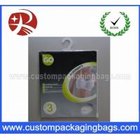 OEM Resealable Plastic Hanger Bags With Ziplock For Llingerie
