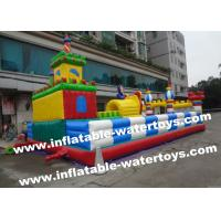 Children Playground 0.55mm PVC Tarpaulin Inflatable Fun City Giant Inflatable Amusement Park