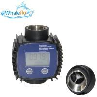 Whaleflo Blue Color 1inch Nylon plasticK24 Fuel Flowmeter Adblue Flow Meter for Diesel Oil
