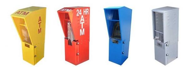 Sheet Metal ATM Cabinet Enclosure , Outdoor ATM Enclosures ...