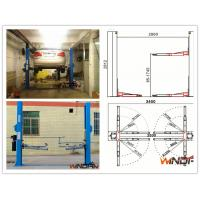 High Stability Hydraulic 2 Post Car Lift With Adjustable Beam