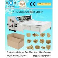 Paper Board Feed Cutter Printing Slotting Machine / Corrugated Box Making Machinery
