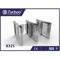 Optical Swing Barrier Gate , Fingerprint Controlled Access Turnstiles Security Gate