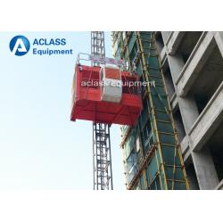 China 2 Ton Two Cages Construction Hoist Elevator , Construction Material Elevator on sale