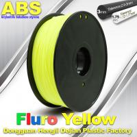 High Precision Fluo - Yellow ABS 3D Printer Filament 1kg / Spool