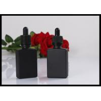 Black Matte Glass Bottles Square Essential Oil Droppe Bottle Frosted Glass Bottles
