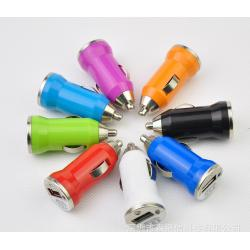 China Colorful Mini USB Car Phone Charger Portable For 12V 1A Mobile Phone on sale