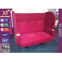 China PU Foam Cushion Wood Structure VIP Cinema Seating , Lover Cinema Sofa Chair on sale