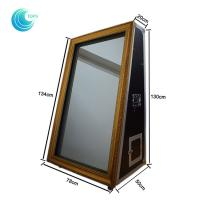 New year led self service wedding touch screen selfie mirror photo booth