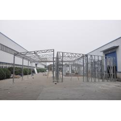 China Waterproof Prefabricated Sheds / Metal Car Sheds With Galvanized Steel Frames on sale