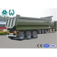 U Shape Aluminium Dump Truck Trailer 40 Ton 25 CBM Heavy Duty High Intensity