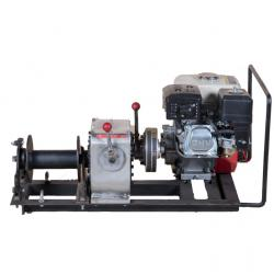 China 10KN 1Ton Cable Pulling Machine With Honda Gasoline Engine Winch Hoist on sale