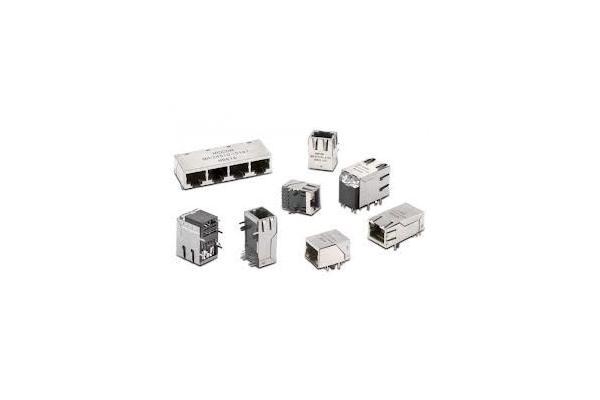 cat6 rj45 20 pin connector    jack single port ethernet