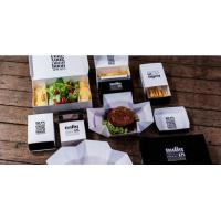 Disposable custom printed kraft lunch food paper box for food,Folding custom logo recycle disposable kraft paper lunch b