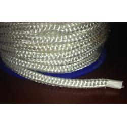 China White Fireproof High Temperature Fiberglass Round Rope For Insulation on sale