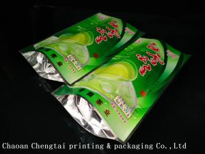 Coffee Customized Stand Up Pouches / Heat Sealable Tea Packaging Bags 50G
