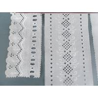Eco-Friendly Eyelet Cotton Lace Fabric Jacquard For Home Textiles
