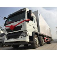 Meat Transport Refrigerated box truck 6x4 266HP 25 T with FRP Sandwich Panels for Ice Box Truck