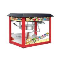 Painting Iron Countertop Popcorn Machine With Organical Glass For Snack Shop