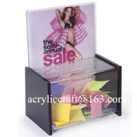 Elegant Comment box , Acrylic Donation Boxes, Plexiglass suggestion box