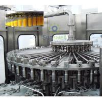 Pet Bottled Juice Filling Machine Automatic For Apple / Orange Juice Plant