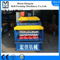Steel Double Layer Roll Forming Machine , Electrical Motor Roofing Sheets Machine