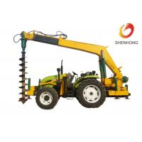 Tower Erection Tools 100HP Tractor Mounted Digger Machine With Crane / Auger