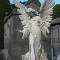 Monument Sculpture Natural Marble Stone Large Angel Garden Statue