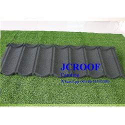 China 18 Color Wood Grain Stone Coated Roofing Sheet Plain Roof Tiles Type on sale