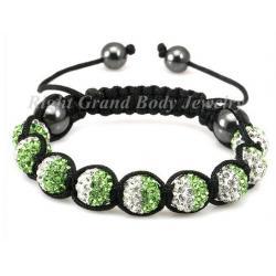 China Handcraft Crystal Shamballa Bracelet , Swarovski Stone on sale