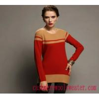 Lady Crew Neck Stripe Cashmere Sweater