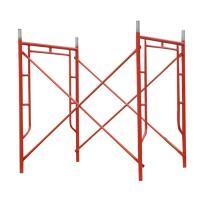 Red Powder Coated Tubular Steel Frame Scaffolding 1524 x 1524 mm